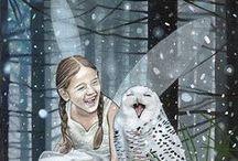 Girls & owls / ART