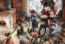 Cat Art .... Cute & Funny 1 / ART