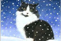 Cats in Winter 1 / ART