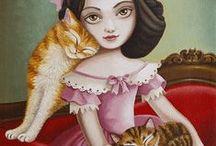 Girls & Cats 3 / Art