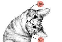 Cat Art  ....... Cute & Funny 3 / Art