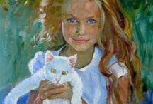 Girls & Cats 4 / ART