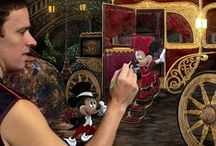 """""""Arriving at the Ball"""" DISNEY Masterpiece / This is my first masterpiece for DISNEY Fine Art Studios.  Here is the link to order Limited-Edition Prints: http://www.acmearchivesdirect.com/search.jhtm?cid=&category=439&includeSubs=false&keywords=arriving&comp=OR"""