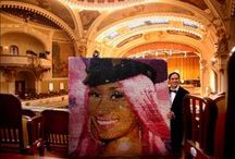 """""""World's Largest Portrait Made Entirely of LIPSTICKS"""" / This world record attempt was just approved by Guinness World Records, and I am excited.  http://www.amazingheroart.com/NewFiles/g_lipsticks.html"""