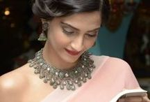 The Sonam Kapoor & her Jewels /  Sonam Kapoor is the ultimate Fashionista. She's also a connoisseur of fine jewellery. Polki, jadau or diamonds, she knows how to wear her family jewels in style. (Sonam's mom gets the gems designed and handcrafted in Bikaner and Jaipur, Rajasthan. Get a similar look. Book us! Bridélan, a wedding shopper & styling service for brides, knows every nook and corner of India and helps you shop for your jewellery to create your Dream Wedding Look. Visit www.bridelan.com