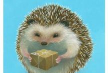 Hedgehogs in Art 1 / ART