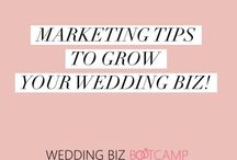 Marketing tips for your wedding biz! / Practical marketing tips to help you grow your wedding business, book more brides and learn how to take control of your business. Get more brides and more sales. With love from Emma Etheridge