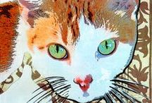 Cat Collage, Mixed Media and Quilts / ART