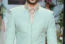 Indian Groom - What to wear to a Sangeet / The Indian Sangeet is the most exciting party of a wedding. The environment is full of energy, laughter, dance & music. The groom should live it up and wear nehru jackets & bandhgalas to match the fun and frolic. Bridelan - a style guide and personal shopper for Indian brides & grooms. Visit www.bridelan.com