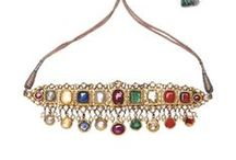 Navaratna Wedding Jewellery / The Navaratna (nine gems) jewellery is considered sacred and regal across the world. They comprise ruby, pearl, coral, emerald, yellow sapphire, diamond, blue sapphire, hessonite and cat's eye. Bridelan is a resource for shopping the best of bridal jewellery. We are personal shoppers and stylists for weddings in India and abroad. Website www.bridelan.com