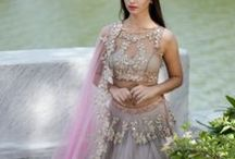 Anushree Reddy Bridal Lehengas & Anarkalis / Anushree Reddy, a talented designer from Hyderabad, is a hit among young brides. Happy pastel colours, delicate zardozi embroidery, the right amount of sparkle and her signature floral prints make her lehengas appropriate for mehndi and sangeet functions. Shop her collection with Bridelan, a personal shopper and styling consultancy for Indian brides and grooms. Website www.bridelan.com