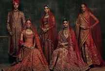 Red Traditional Bridal Lehengas / In India, the meaning of the colour 'red' is myriad. Red permeates every aspect of the Indian life. It symbolises love, desire, longing, romance, and passion. No surprise, when Indian brides get married they opt for red. At Bridelan, we get tonnes of queries for red, with our brides assiduously hunting for that perfect shade of red until they have found theirs. We are more happy to assist them in their chase. For us, 'red' has, besides all the things we have mentioned, a spiritual character.