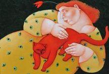 Women & Cats 9 / ART