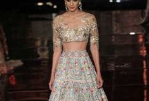 Manish Malhotra India Couture Week 2016 / Manish Malhotra's new bridal couture 2016 collection 'The Persian Story' showcased in Delhi. Brides take cues from off shoulder blouses, embellished lehengas with long trails and oodles of glamour. Bridelan - Personal Shopper & Style Consultants for Indian/NRI Weddings. Website www.bridelan.com