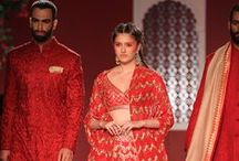 Anita Dongre India Couture Week 2016 - Bridal Collection / Anita Dongre's newest collection #EpicLove was a celebration of  the new bridal spirit. The designer played it up to her strengths - gottapatti embroidery, Jaipur block prints, vivid Indian colours. The look was luxe bohemian, done in an Indian spirit. Bridelan - personal shopper & style consultants for Indian & NRI weddings. Website www.bridelan.com