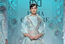 Rahul Mishra India Couture Week 2016 / Rahul Mishra made his debut at Couture Week 2016 in Delhi with an Indian collection showcasing his signature thread embroideries in pastel colours. His monochrome identity was present throughout. His whites and ivory saris were a spectacular feast. Bridelan - Personal shopper, style and luxury consultants for Indian/NRI weddings. Website www.bridelan.com