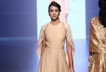 SVA by Sonam and Paras Modi Lakme Fashion Week Winter Festive 2016 / SVA by Sonam and Paras Modi: Hints of ancestral art in the garments made it look quite regal. Their collection is  inspired by a beautiful array of colours and fabrics. Bridelan - Personal shopper & style consultants for Indian/NRI weddings, website www.bridelan.com