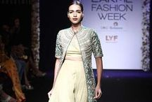 Architha Narayanam Lakme Fashion Week Winter Festive 2016 / South Indian designer Architha Narayanam's half saris, lehengas and bridal wear are showstopping. Intricate gold embroidery is the mainstay of her collection. Bridelan - Personal shopper & style consultants for Indian/NRI weddings, website www.bridelan.com