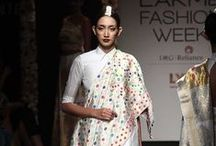 Sanjukta Dutta Lakme Fashion Week Winter Festive 2016 / Sanjukta Dutta is an Indian bridal designer, who's work represents myriad cultures with temple motifs from South and colourful silk threads from Assam. She flirts with different ways of draping the sari. Bridelan - Personal shopper & style consultants for Indian/NRI weddings, website www.bridelan.com