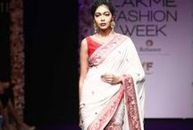 Sumona Parekh Lakme Fashion Week Winter Festive 2016 / Sumona Parekh's 'Revival of the Baluchori' was a paean to our multifarious social and religious customs. The collection promoted age old techniques of embroidery and motifs from all cultures. Bridelan - Personal shopper & style consultants for Indian/NRI weddings, website www.bridelan.com