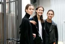 Minimal Mod / Simple cool. Influence: Sleek, cool, uniform, structured, 1990s;  Designers: Street style;  Palette: Black, White, Gray, Tan;  Key Pieces: Blazer, Jeans, Crop Tops, Sweaters, Denim;  4-point style matrix elements: Minimal X Classic X Romantic X Boheme Mod x Glam x Luxe x Retro