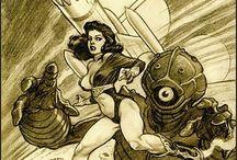 Comic / Pulp Sketches & Illustrations