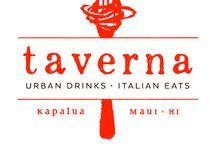 Taverna Maui Italian Restaurant / Maui's newest addition to Kapalua, Taverna, specializing in Urban Drinks/Italian Eats.