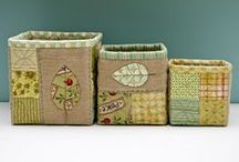 Patchwork Bags,Baskets, Boxes