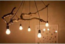 lampade e legno / lampade fatte con il legno e altri materiali