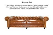 Kingston / The Kingston Tufted Leather Collection by Casco Bay Furniture...
