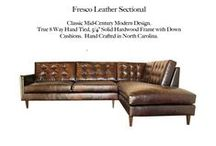 Fresco Sectional / The Fresco Sectional Tufted Leather Collection by Casco Bay Furniture...