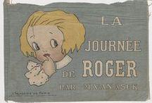 Livres en tissu pour la jeunesse / Montrer des livres en tissu anciens pour enfants, à partir de collections numérisées (et en particulier le fonds Heure Joyeuse, Paris, accessible via Gallica)