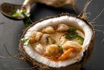 Food: Seafood / Recipes of seafood - shell and fish as a main course