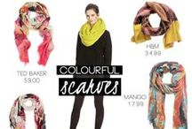 Colourful Scarves / Colourful scarves to brighten up your winter outfits.