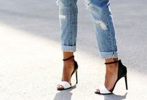 Dressed Up Jeans / Inspiration on how to dress up jeans.