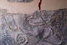 Doppio Linguaggio Mostra Chiostro del Bramante Roma / Mostra realizzata al Chiostro del Bramante di Roma. Quindici opere materiche di grande formato, e quindici su carta. Catalogo Silvana Editoriale