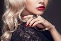 Red lips // Make up // Hair