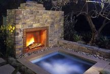 cool pools and backyards / by Lesa Moyer-Speer