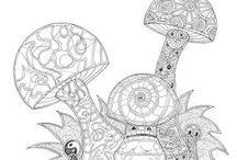 Mandala- modèles- zentagle - coloriages / by c Des