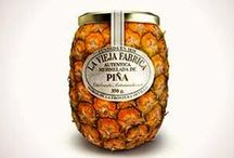 Pineapple jam : La vieja Fabrica, designed by Tapsa, 2012 / PACKAGING : Very simple idea  : fruit shape , here very realistic pineapple. Ordinary closure    TECHNICS : Good preservation,Practical, resistant  THE SET : colorful, bright,few text. Speaks for itself.