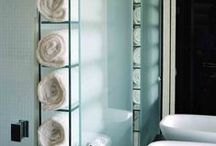 Build Glass Shelves / Incorporate design while you organize your belongings.