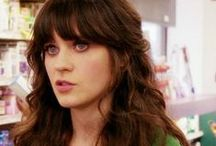 Zooey Deschanel / She's my hair and style inspiration <3