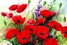 Decoupage virágok - flowers