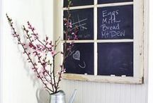 Chalkboard decoration at home