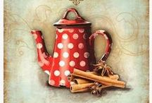 Decoupage kávé/tea - Decoupage coffe/tea