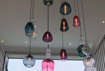 Handmade glass Lights / The range of signature products from Rothschild & Bickers