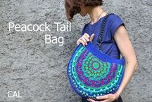Peacock Tail Bag CAL / This CAL is about a bag made which reminds me of a peacock tail (by colors and shape). The CAL is FREE and all tutorials will be published on my blog. Coming soon...