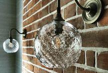 Glass wall lights / Bespoke wall lights made with blown glass