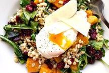 Scrumptious Salads / Delicious spring and summer salad recipes featuring egg, chicken and turkey.