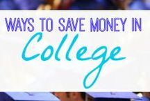 Saving in College / Money is always a touchy subject in college.  Here are a few tips and tricks to make that dollar stretch as much as possible!